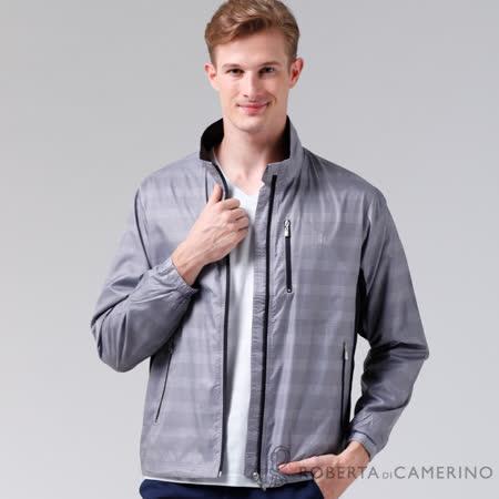 ROBERTA諾貝達 進口素材 輕薄休閒防潑水夾克外套 灰色