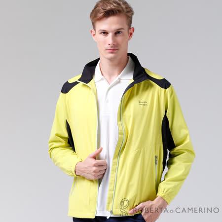 ROBERTA諾貝達 休閒極品 輕薄休閒防潑水夾克外套 黃色