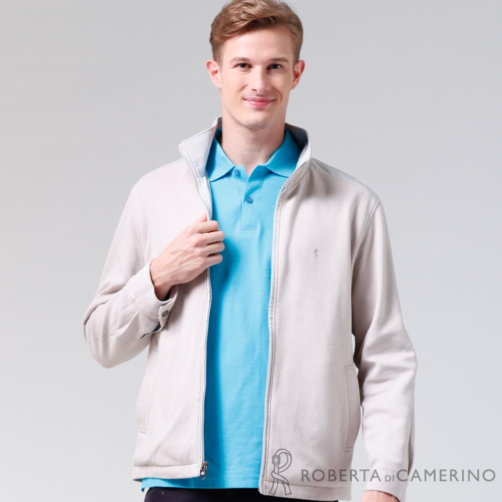 ROBERTA諾貝達 台灣製 嚴選穿搭 休閒百搭 雙面穿夾克外套 白色