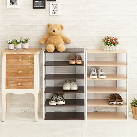 ikloo 日系五層木質鞋櫃