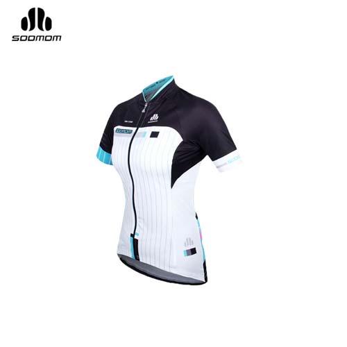 (女) SOOMOM 賽特短車衣 -自行車 單車 速盟 水藍白黑