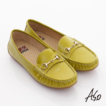 A.S.O.阿瘦 真皮莫卡辛平底鞋