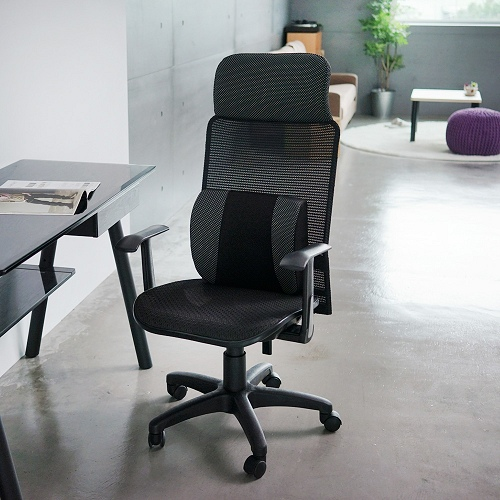 《Peachy life》高靠背透氣網電腦椅/辦公椅附激厚PU靠腰枕(六色可選)