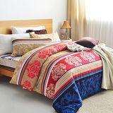 美夢元素 美麗的錯誤 天鵝絨雙人加大四件式 全鋪棉兩用被床包組