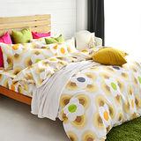 美夢元素 風鈴花海 台製天鵝絨雙人加大四件式 全鋪棉兩用被床包組