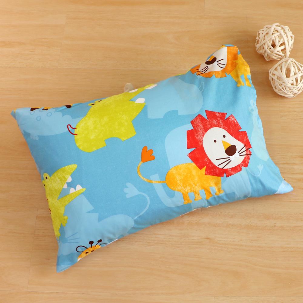 鴻宇HongYew《快樂獅子》台灣製 美國棉 防蹣抗菌兒童纖維枕