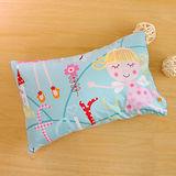 鴻宇HongYew《公主城堡-綠》台灣製 美國棉 防蹣抗菌兒童纖維枕
