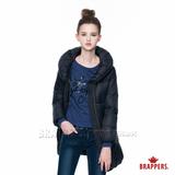 BRAPPERS 女款 女用輕量長版羽絨外套-黑