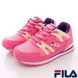 FILA頂級童鞋款-新創慢跑運動款811Q-299桃-(20cm~24cm)