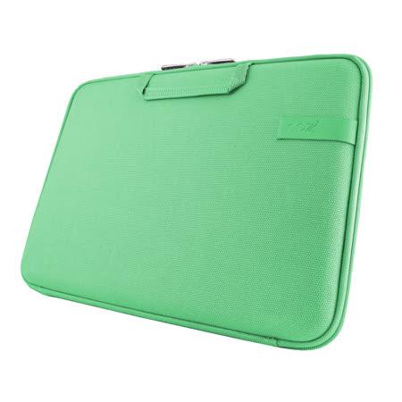 Cozistyle 13吋 Macbook Air /Macbook Pro(Retina) 智能散熱防潑水手提硬殼電腦保護套-帆布蘋果綠 -friDay購物