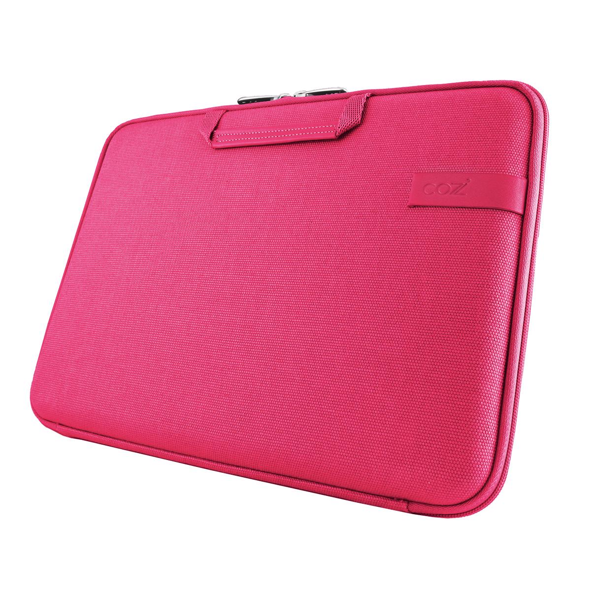 Cozistyle 13吋 Macbook Air /Macbook Pro(Retina) 智能散熱防潑水手提硬殼電腦保護套-帆布蜜桃紅