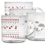 【OMORY】耐熱玻璃馬克杯-375ml(贈攪拌匙一支)
