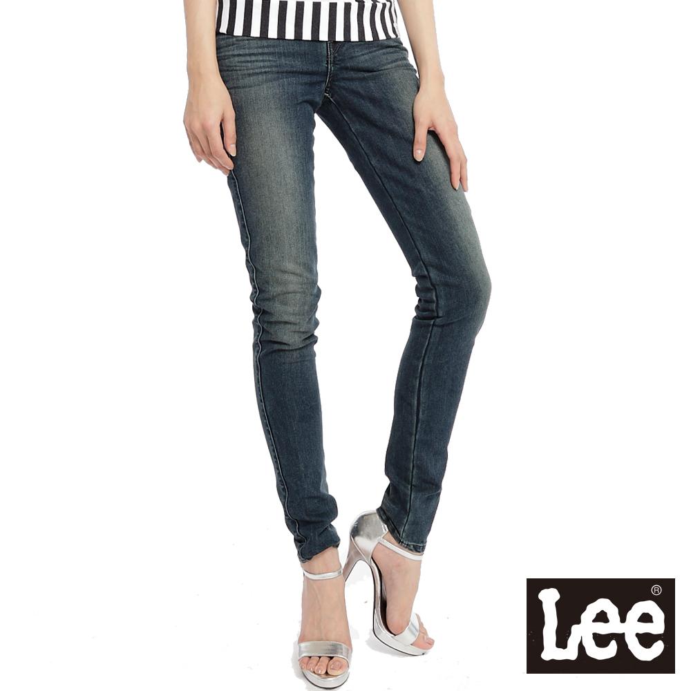Lee 牛仔褲418 低腰緊身窄管 -女款(中古藍)