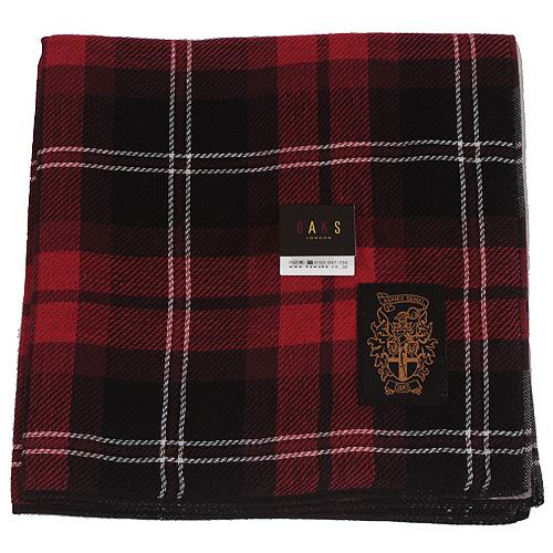 DAKS英倫風帕領巾-紅