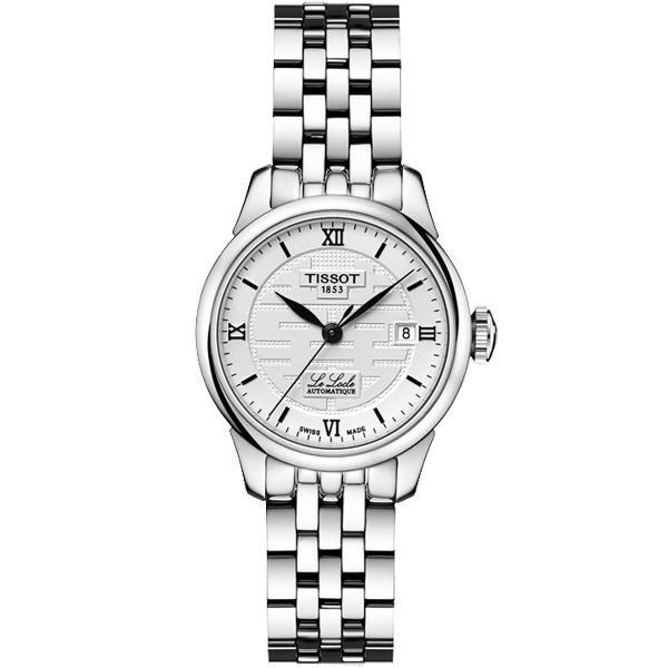 TISSOT Le Locle 力洛克雙喜特別版機械女錶-銀/25mm T41118335