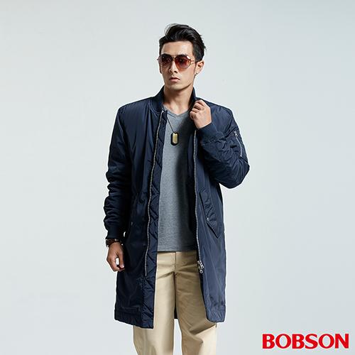 BOBSON 男款長版鋪棉棒球外套  35049~53