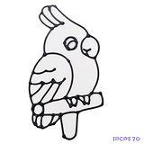 【愛玩色創意館】兒童無毒彩繪玻璃貼- 小張圖卡 - 鸚鵡 ipcpS20 -台灣製