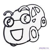 【愛玩色創意館】兒童無毒彩繪玻璃貼- 小張圖卡 - 汽車 ipcpS19 -台灣製