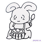 【BabyTiger虎兒寶】愛玩色 兒童無毒彩繪玻璃貼- 小張圖卡 - 兔子 ipcpS18 -台灣製