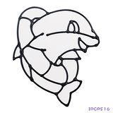 【愛玩色創意館】兒童無毒彩繪玻璃貼- 小張圖卡 - 海豚 ipcpS16 -台灣製
