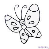 【愛玩色創意館】兒童無毒彩繪玻璃貼- 小張圖卡 - 蝴蝶 ipcpS15 -台灣製