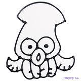 【愛玩色創意館】兒童無毒彩繪玻璃貼- 小張圖卡 - 烏賊 ipcpS14 -台灣製