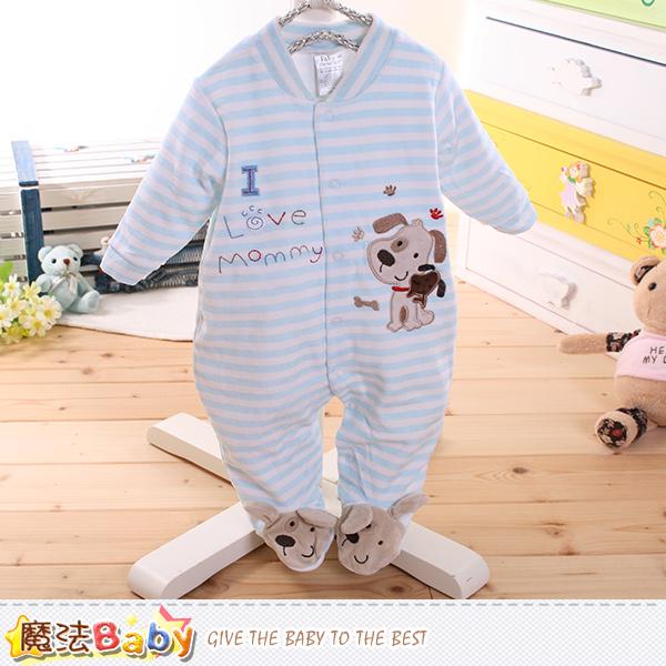 魔法Baby~包腳連身衣 法國設計細絲絨包屁衣 k60173