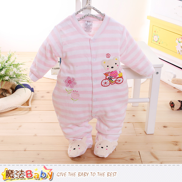 魔法Baby~包腳連身衣 法國設計細絲絨包屁衣 k60181