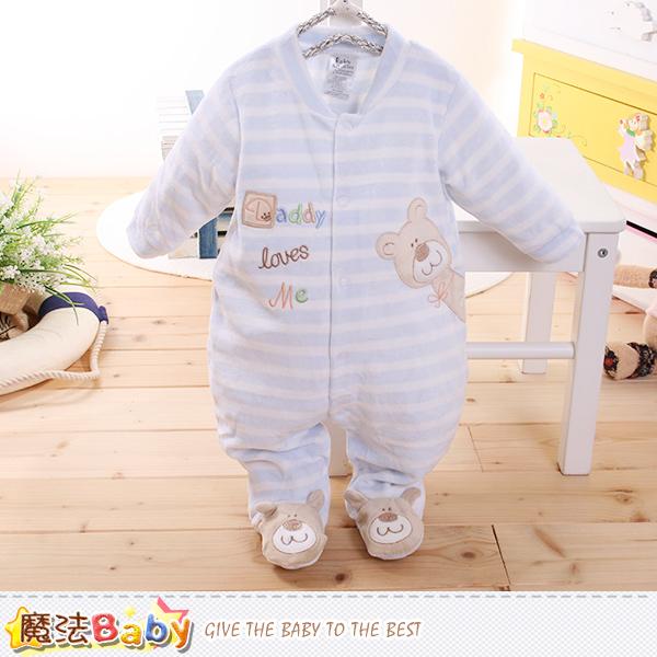魔法Baby~包腳連身衣 法國設計細絲絨包屁衣 k60182