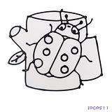 【愛玩色創意館】兒童無毒彩繪玻璃貼- 小張圖卡 - 瓢蟲 ipcpS11 -台灣製