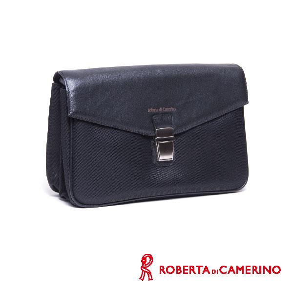 Roberta di Camerino 尼龍配皮手拿包 020R-550-01