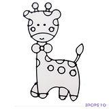 【愛玩色創意館】兒童無毒彩繪玻璃貼- 小張圖卡 - 長頸鹿 ipcpS10 -台灣製
