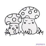 【愛玩色創意館】兒童無毒彩繪玻璃貼- 小張圖卡 - 蘑菇 ipcpS03-台灣製