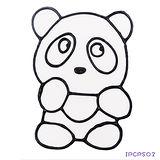 【愛玩色創意館】兒童無毒彩繪玻璃貼- 小張圖卡 - 熊貓 ipcpS02 -台灣製
