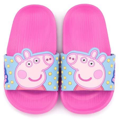 童鞋城堡-粉紅豬小妹 佩佩豬 中童 超輕量造型款拖鞋PG0019-粉