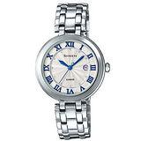 【CASIO 卡西歐】SHEEN 簡約典雅 施華洛世奇晶鑽女錶(30.5mm/ SHE-4033D-7A)