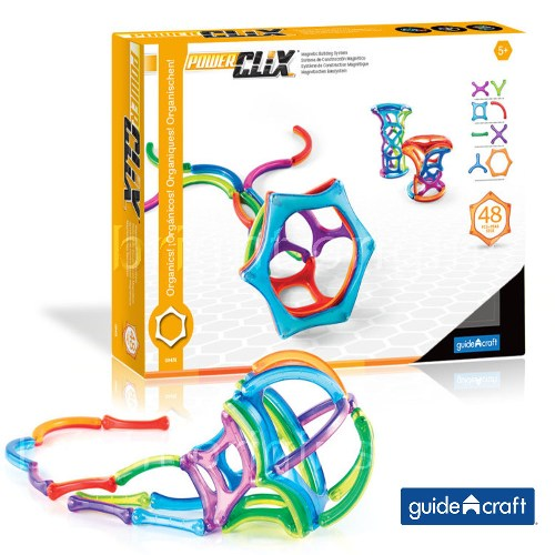 GuidecraftPowerClix®磁力片 有機組合48件套 G9431