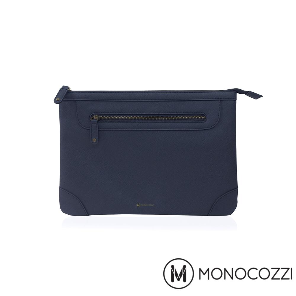 MONOCOZZI Posh Macbook Air 11 吋皮革保護內袋 - 深藍