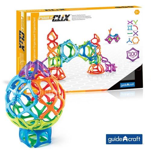 GuidecraftPowerClix®磁力片 有機組合100件套 G9433