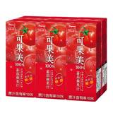 可果美蕃果園100%蕃茄蘋果汁200ml*6