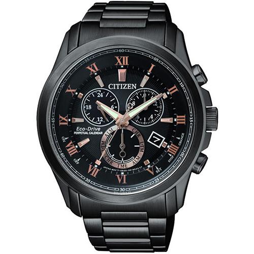 CITIZEN 星辰 亞洲限量光動能萬年曆羅馬時標腕錶/43mm/BL5545-50E