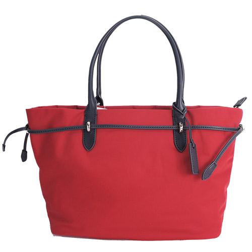 agnes b. 金屬束繩三層手提包(小/紅)