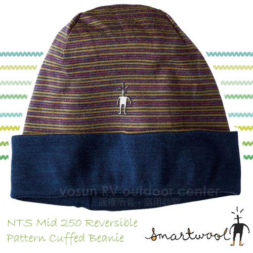 【美國 SmartWool】NTS Mid 250 美麗諾羊毛帽/兩面保暖帽 SC181 石楠/深藍