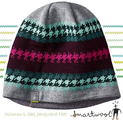 【美國 SmartWool】Ski Jacquard Hat 美麗諾羊毛帽 SC233 灰
