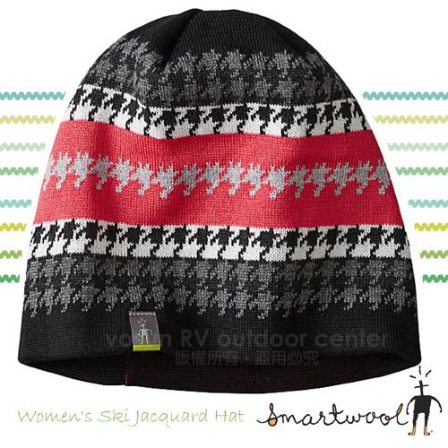 【美國 SmartWool】Ski Jacquard Hat 美麗諾羊毛帽  SC233 黑