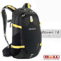 【捷克 BOLL】 RAVEN 18 專業輕量健行背包(附防雨套/可調人體工學肩帶) 1283083 黑黃