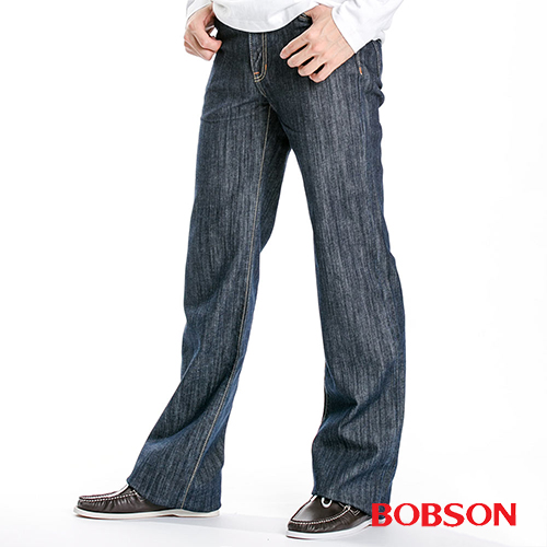 BOBSON 男款植絨貼合布直筒褲  1729-52