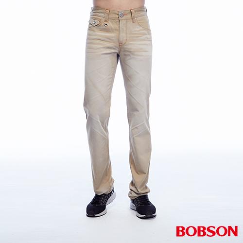 BOBSON 男款刷色半舊直筒褲 (1788-72)