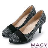 MAGY 完美比例首選 素面氣質圓楦高跟鞋-黑色