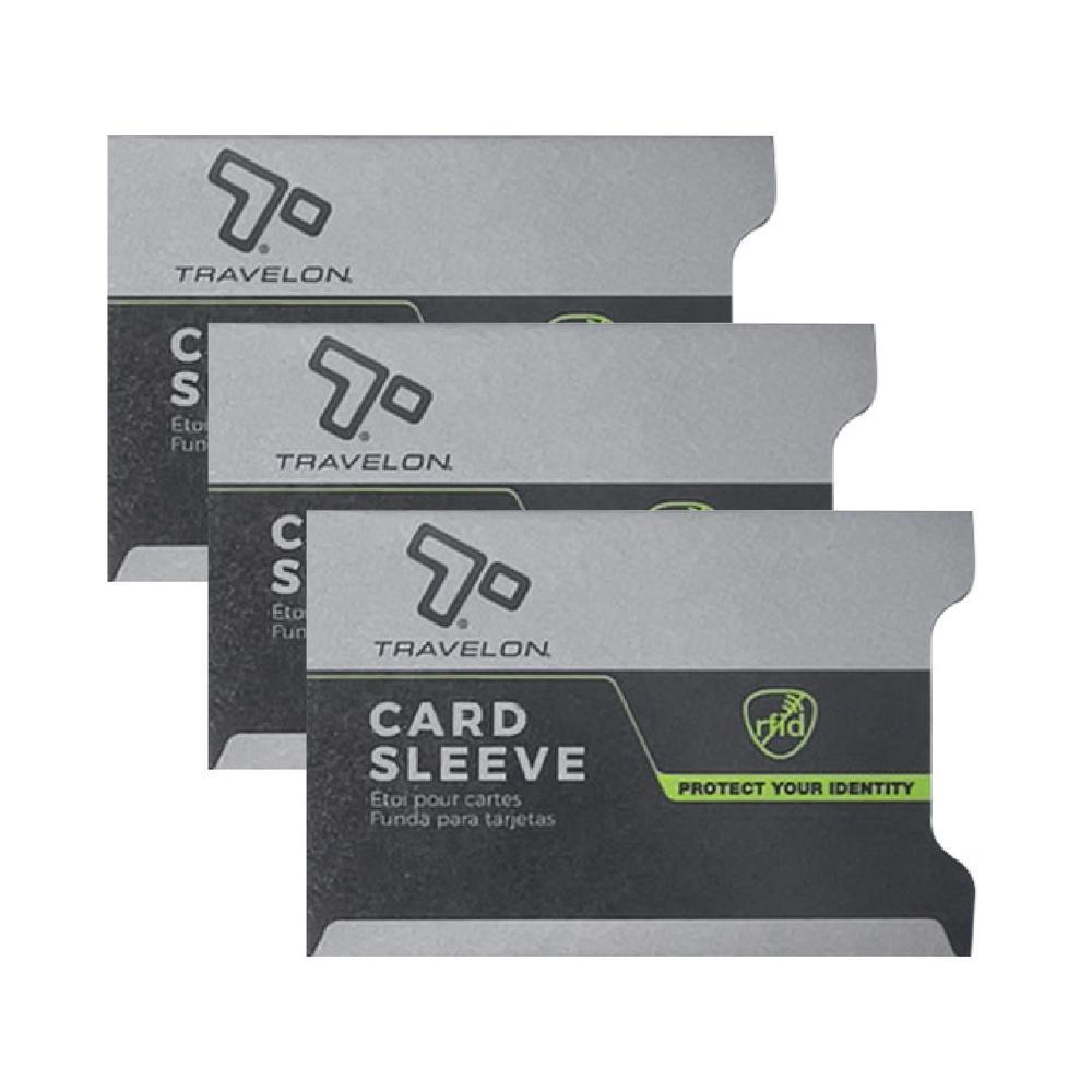 《TRAVELON》RFID防護卡套(灰3入)